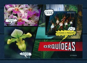 SAO TOME 2019 ORCHIDS  SOUVENIR SHEET MINT NEVER HINGED