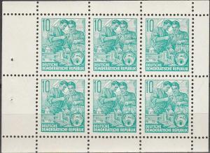 DDR #477b Booklet Pane CV $6.00 (SU4986)