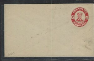 SOUTHERN RHODESIA  COVER  (P1002BB)  KGV 1D ADMIRAL  PSE UNUSED