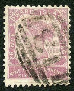 PRINCE EDWARD ISLAND SG20 1862-69 9d reddish mauve perf 11.5-12 used