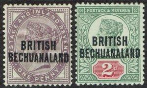 BECHUANALAND 1891 QV GB 1D AND 2D