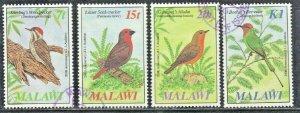 MALAWI SC# 470-473  USED SET 1985  BIRDS    SEE SCAN