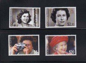 Solomon Islands – Queen Elizabeth 80th Birthday – 4 Stamp Set 19M-032
