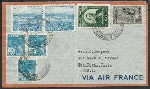 BRAZIL 1939 airmail cover to USA...........................................59272