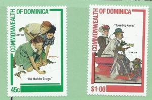 Dominica  #756-57   (MNH)  CV $0.90