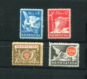 CROATIA GERMAN PUPPET STATE 1944 B52-B55 POSTAL & COMMUNICATIONS SET PERFECT MNH