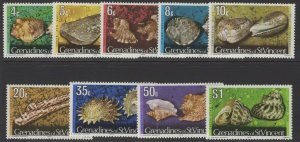 GRENADINES OF ST.VINCENT SG38B/50B 1976 SHELLS WITH 1976 IMPRINT DATE MNH