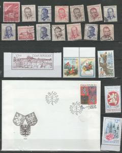 Czechoslovakia stamp collection 2 with FDC's
