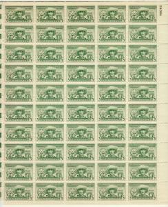 1949 U.S 3¢ Puerto Rico 1st elections complete sheet MNH Sc# 983