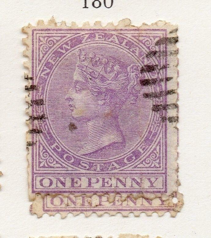 New Zealand 1874-78 Early Issue Fine Used 1d. 200224