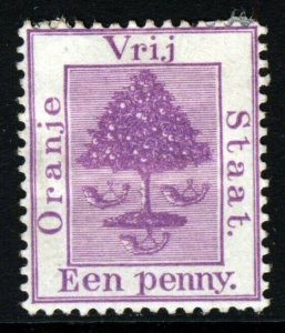 ORANGE FREE STATE 1894 New Colour One Penny Purple SG 68 MINT