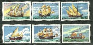 St. Thomas & Prince MNH 534-9 History Of Navigation Ship