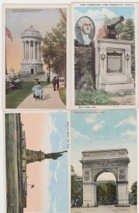 4 Different Unused Postcards of New York City Monuments