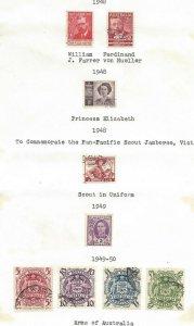 Australia #213 thru #227 Excellent Stamps