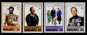 Vanuatu 304-7 MNH Duke of Edinburgh 60th Birthday, Royalty