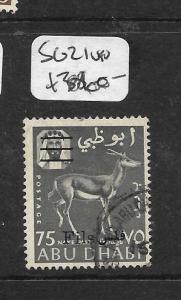 ABU DHABI (PP0604B) DEER 75NP REVALUED SG 21   VFU