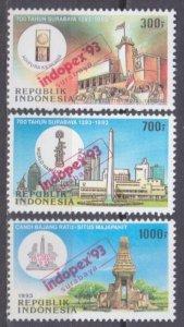 1993 Indonesia 1462-1464 Overprint - indopex'93 3,40 €