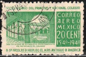 MEXICO C108 20c School of San Nicolas 1st in America Used. VF. (687)