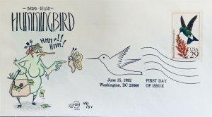 Steve Wilson Hand Painted 2643 Broad Billed Hummingbird Mama Carrying Cash