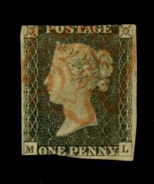 Great Britain #1 Used Ave-FiNe Cat$300