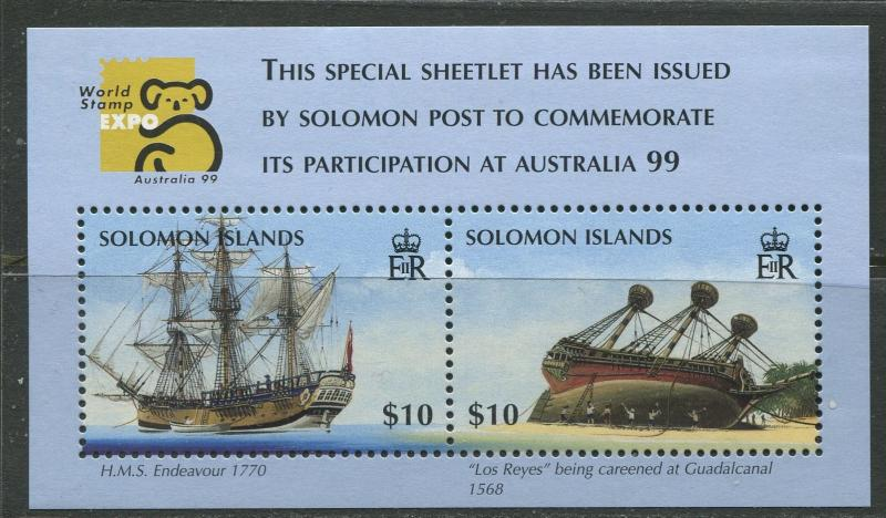 Solomon Is. - Scott 873 - General Issue -1999 - MNH -Souvenir Sheet with 2 Stamp