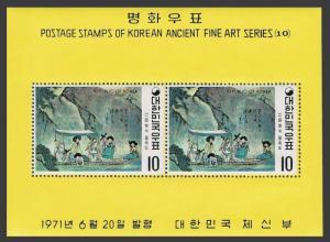 Korea South 781a-786a,MNH.Michel Bl.329-334. Ancient Art,1971.By Shin Yun-bok.
