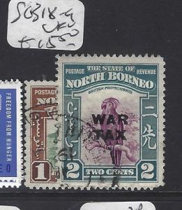 NORTH BORNEO  (PP2811B)  WAR TAX   SG 318-9   VFU