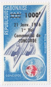 Gabon, Sc C198 (2), MNH, 1976, Concorde