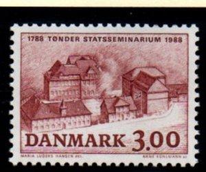 Denmark Sc 859 1988 Tonder Teachers College stamp mint NH