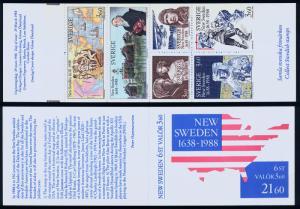 SWEDEN 1677a, Swedish settlers in the U.S. UNEXPL. BKLT. MINT, NH. F-VF.