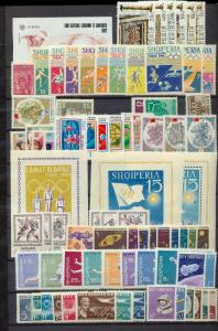 ALBANIA 1960s MNH Stamps Sheets Sets Space Flowers Olympics(App150)St577