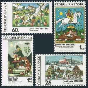 Czechoslovakia 1681-1684,MNH.Michel 1935-1938.Paintings by Josef Lada,1970.Horse
