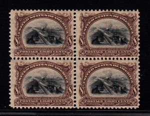 298 F-VF/OG  block of 4. 3 stamps NH!