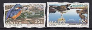 Malta   #968-969   MNH  1999  Europa nature reserves  birds