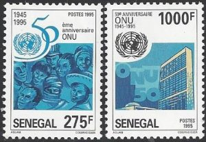 Senegal 1178-9  MNH United Nations 50th Anniversary