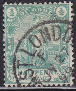 Cape of Good Hope 59 USED 1898 Hope Standing CDS
