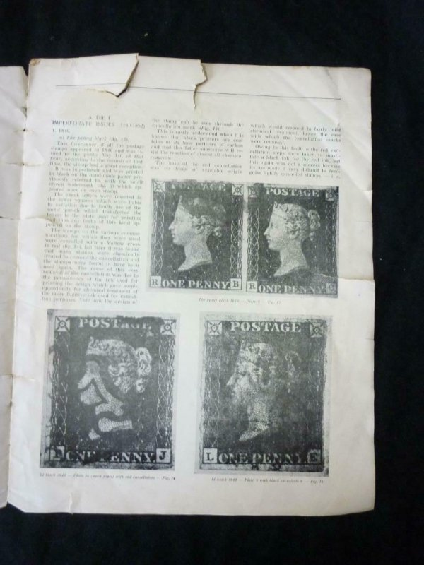 PHILATELY AND THE MICROSCOPE GREAT BRITIAN THE LINE ENGRAVED ISSUES by CHEAVIN