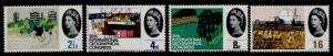 Great Britain 410-3 MNH International Geographical Congress, Nuclear Reactor