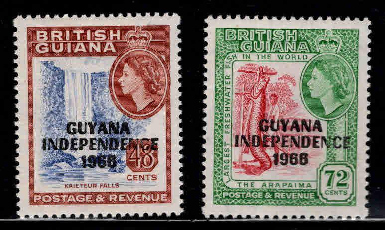 GUYANA Scott 15-16 MNH** 1966 Independence stamps