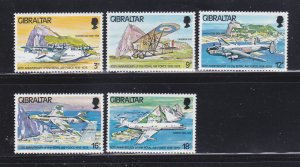 Gibraltar 369-373 Set MNH Planes (B)