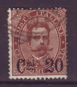 J16926 JLstamps 1890-1 italy used #65 king