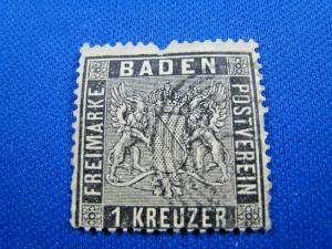 GERMANY-BADEN  -  SCOTT #10    Used
