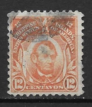 Phillipines 295 12c Lincoln single Used (z1)