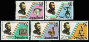 Swaziland Scott 273-277 Mint never hinged.