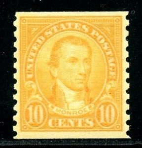 U.S. Scott 603 MNH James Monroe Horizontal Coil Single
