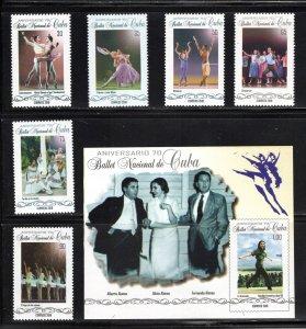 CUBA Sc#6101-6107 CUBAN NATIONAL BALLET dance ballerina CPL SET of 6+SS 2018 MNH