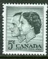 Canada 1957 Scott 374 QE 2 & Prince Philip Visit MNH