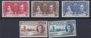 NIGERIA  1937 - 46  CORONATION & VICTORY SETS  MH