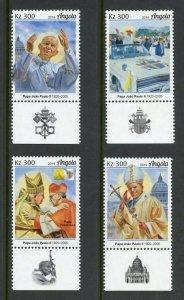 ANGOLA 2019 POPE JOHN PAUL II  SET MINT NEVER HINGED
