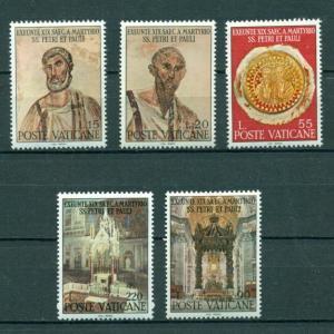 Vatican City #448-52 comp mnh cv $1.25